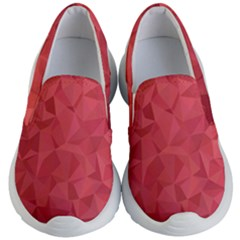 Triangle Background Abstract Kids  Lightweight Slip Ons