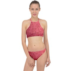 Triangle Background Abstract Racer Front Bikini Set