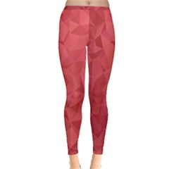 Triangle Background Abstract Inside Out Leggings