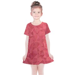 Triangle Background Abstract Kids  Simple Cotton Dress