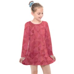 Triangle Background Abstract Kids  Long Sleeve Dress
