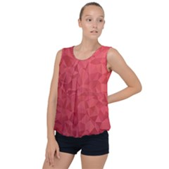 Triangle Background Abstract Bubble Hem Chiffon Tank Top