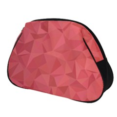 Triangle Background Abstract Full Print Accessory Pouch (Small)