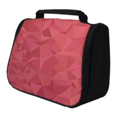 Triangle Background Abstract Full Print Travel Pouch (Small)