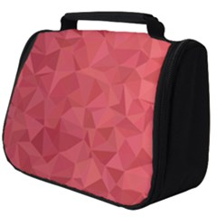 Triangle Background Abstract Full Print Travel Pouch (Big)