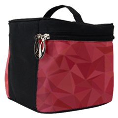 Triangle Background Abstract Make Up Travel Bag (Small)