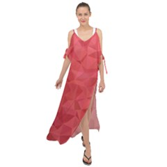 Triangle Background Abstract Maxi Chiffon Cover Up Dress