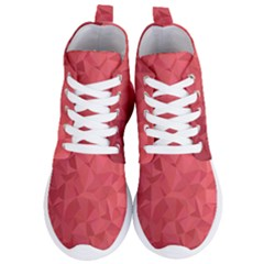 Triangle Background Abstract Women s Lightweight High Top Sneakers