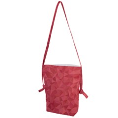 Triangle Background Abstract Folding Shoulder Bag