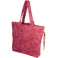 Triangle Background Abstract Drawstring Tote Bag