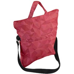 Triangle Background Abstract Fold Over Handle Tote Bag