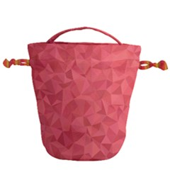 Triangle Background Abstract Drawstring Bucket Bag