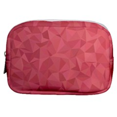 Triangle Background Abstract Make Up Pouch (Small)