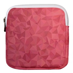 Triangle Background Abstract Mini Square Pouch