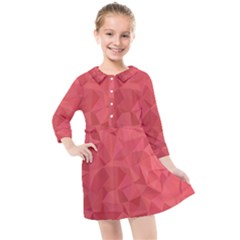 Triangle Background Abstract Kids  Quarter Sleeve Shirt Dress