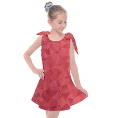 Triangle Background Abstract Kids  Tie Up Tunic Dress