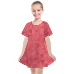 Triangle Background Abstract Kids  Smock Dress