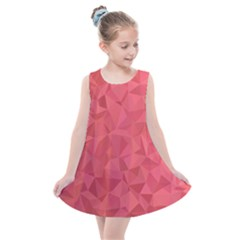 Triangle Background Abstract Kids  Summer Dress