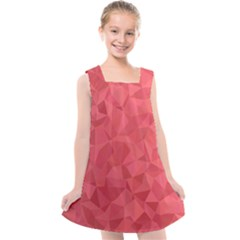 Triangle Background Abstract Kids  Cross Back Dress