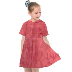 Triangle Background Abstract Kids  Sailor Dress