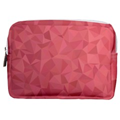 Triangle Background Abstract Make Up Pouch (Medium)