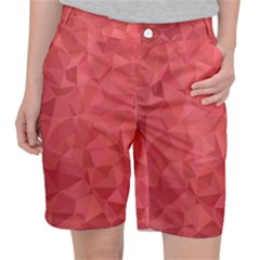 Triangle Background Abstract Pocket Shorts