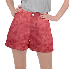 Triangle Background Abstract Stretch Ripstop Shorts