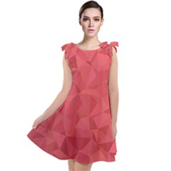 Triangle Background Abstract Tie Up Tunic Dress