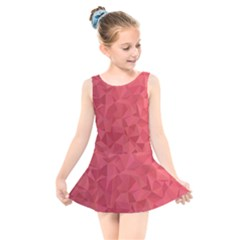 Triangle Background Abstract Kids  Skater Dress Swimsuit