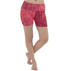 Triangle Background Abstract Lightweight Velour Yoga Shorts