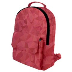 Triangle Background Abstract Flap Pocket Backpack (Small)