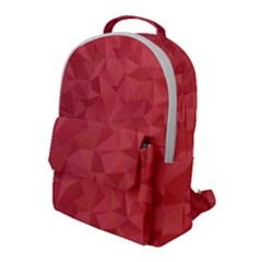 Triangle Background Abstract Flap Pocket Backpack (Large)