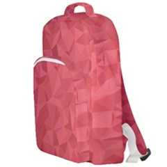 Triangle Background Abstract Double Compartment Backpack