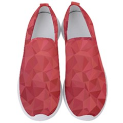 Triangle Background Abstract Men s Slip On Sneakers