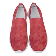 Triangle Background Abstract Women s Slip On Sneakers