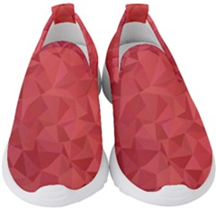 Triangle Background Abstract Kids  Slip On Sneakers
