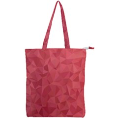 Triangle Background Abstract Double Zip Up Tote Bag