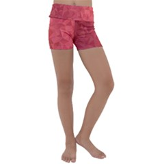 Triangle Background Abstract Kids  Lightweight Velour Yoga Shorts