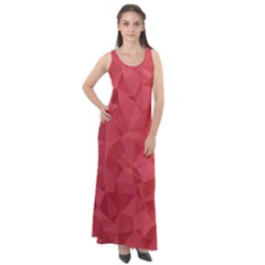 Triangle Background Abstract Sleeveless Velour Maxi Dress