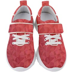 Triangle Background Abstract Kids  Velcro Strap Shoes