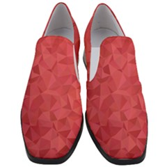 Triangle Background Abstract Slip On Heel Loafers