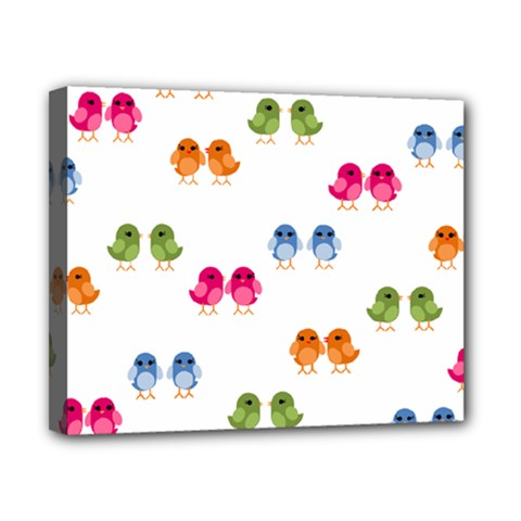Pattern Birds Cute Canvas 10  X 8  (stretched)