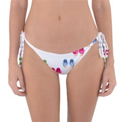 Pattern Birds Cute Reversible Bikini Bottom