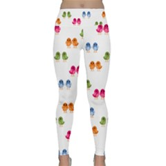 Pattern Birds Cute Lightweight Velour Classic Yoga Leggings
