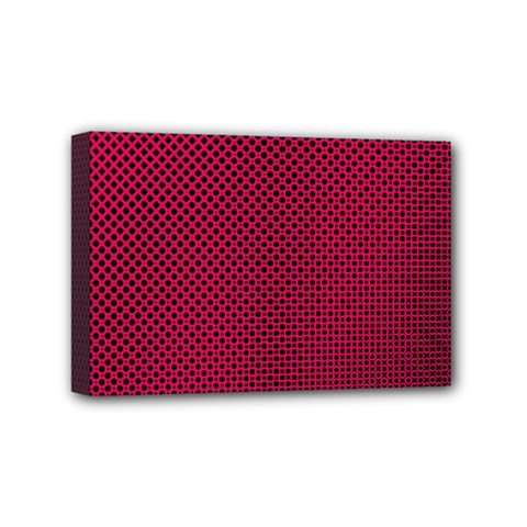 Red Black Pattern Background Mini Canvas 6  X 4  (stretched)