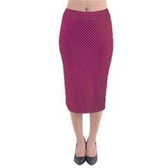 Red Black Pattern Background Velvet Midi Pencil Skirt by Mariart