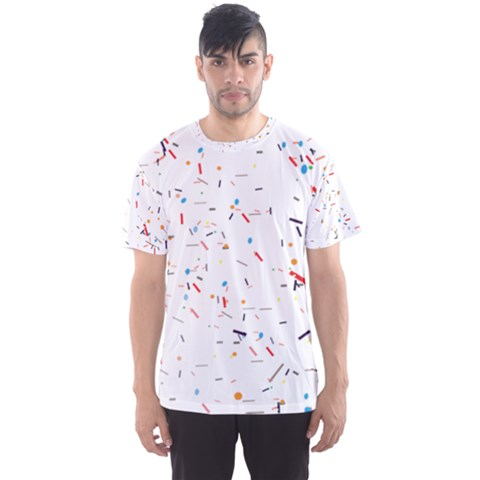 Ribbon Polka Men s Sports Mesh Tee by Mariart