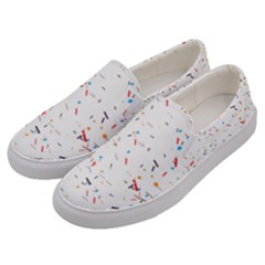 Ribbon Polka Men s Canvas Slip Ons by Mariart