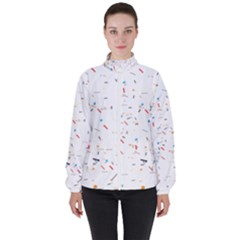 Ribbon Polka High Neck Windbreaker (women)
