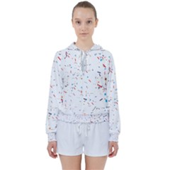 Ribbon Polka Women s Tie Up Sweat by Mariart